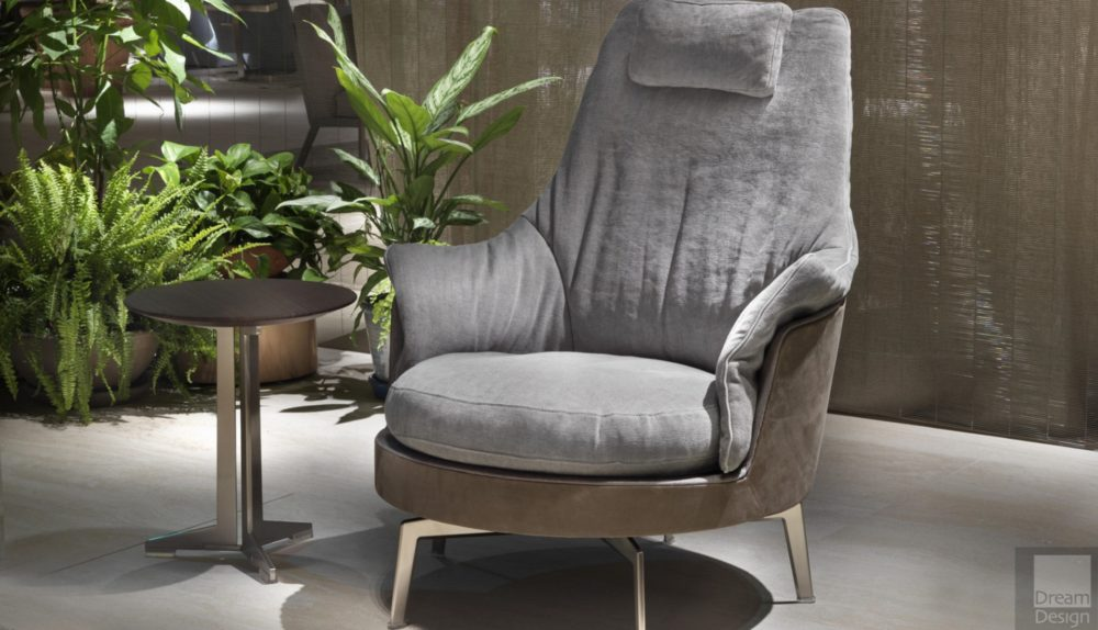 Flexform Guscioalto Light Armchair
