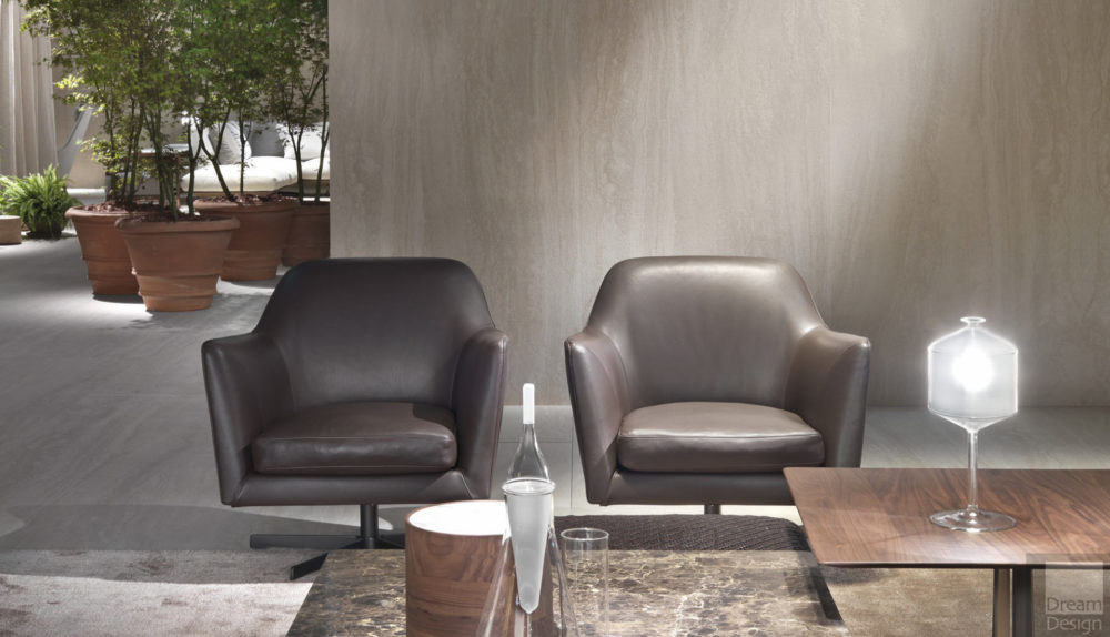 Flexform Luce Swivel Armchair