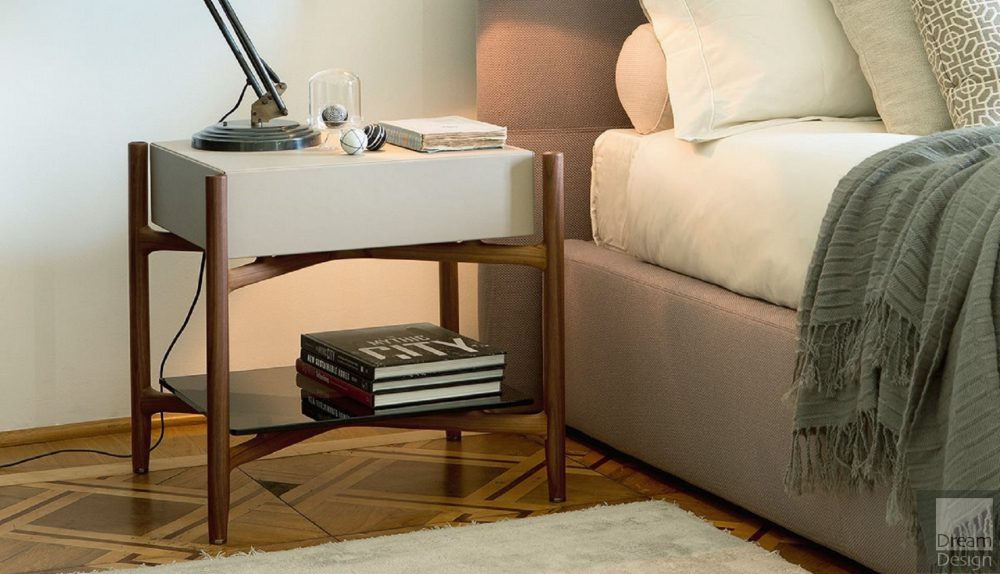 Porada Regent 2 Bedside Table